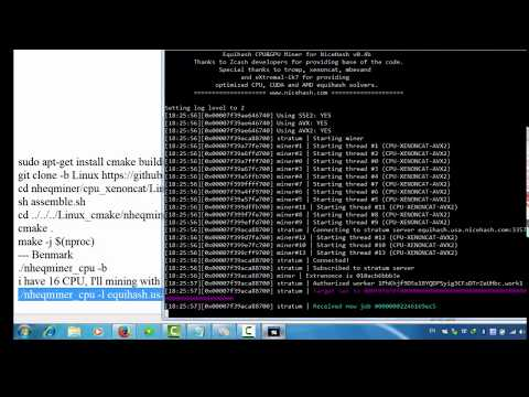 How To Bitcoin Miner With Ubuntu VPS - Setup Nicehash Miner Via Ubuntu VPS