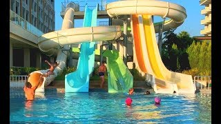 Отдых в Турции с Детьми: Море, Бассейн, Водные Горки и Пенная Вечеринка | Где же Глеб?!!!