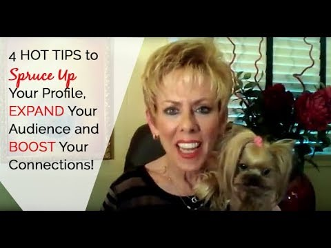 "👩‍🎤🤩👉""4 HOT TIPS to SPRUCE UP Your Profile, EXPAND Your Audience and BOOST Your Connections‼️ 👩‍🎤💃"