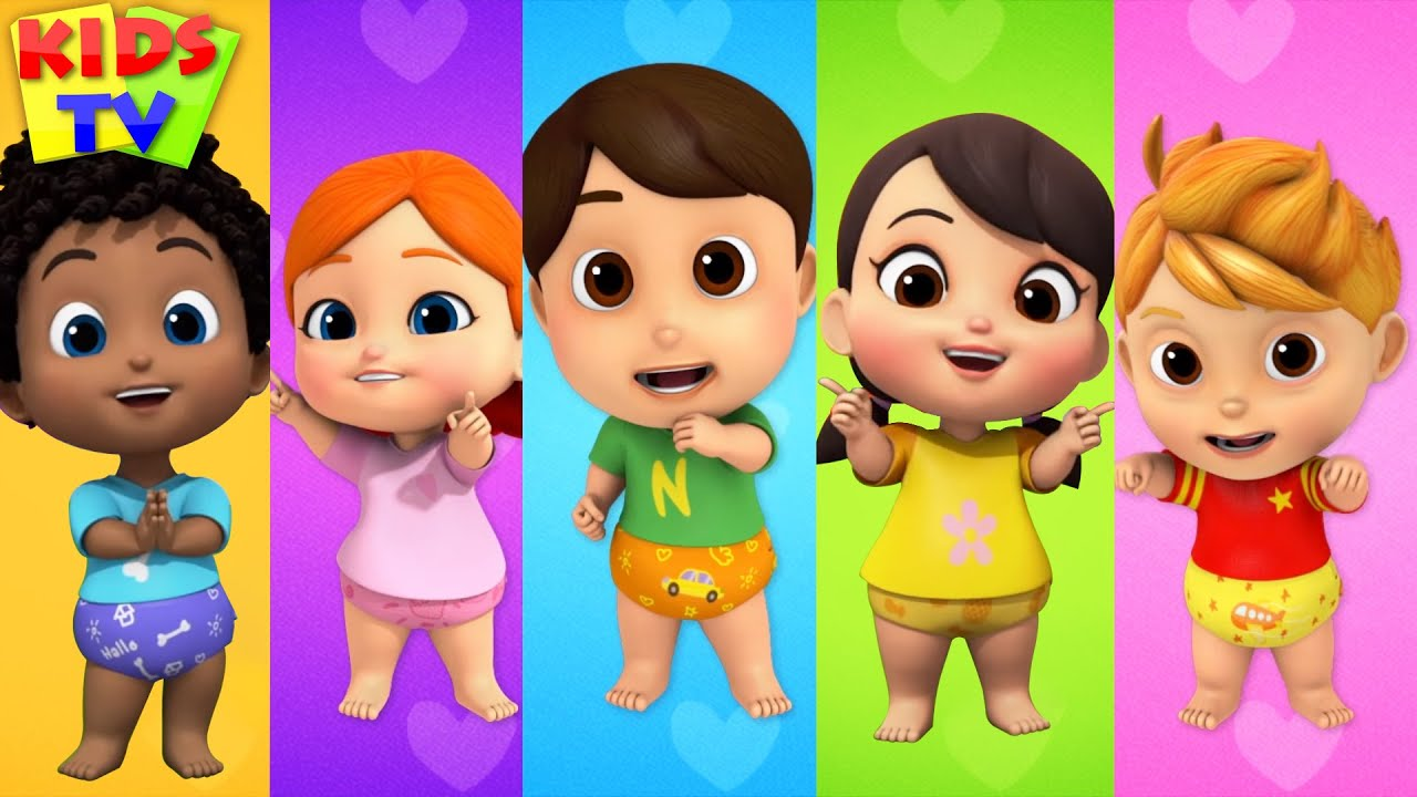 Five Little Babies Nursery Rhyme Baby Songs Kids Cartoon Youtube