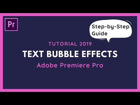 How To Create A Message Bubble In Adobe Premiere Pro CC - Tutorial 2019 thumbnail
