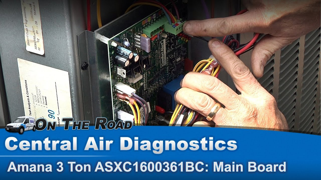 central air condenser troubleshooting diagnostics solid state board [ 1280 x 720 Pixel ]