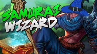 Yasuo puts on his robe and wizard hat