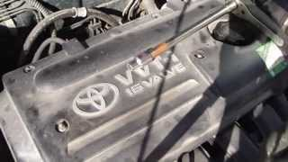 How to replace spark plugs Toyota Corolla VTTi engine. Years 2000-2007.