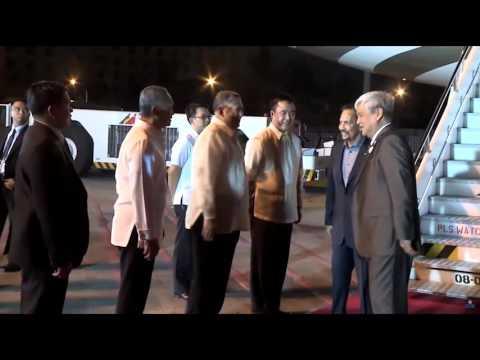 Brunei sultan Hassanal Bolkiah arrives in Manila for APEC
