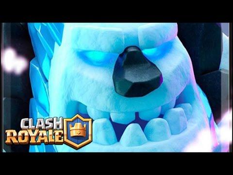 Clash royale fr deck golem de glace youtube for Deck clash royale sorcier de glace