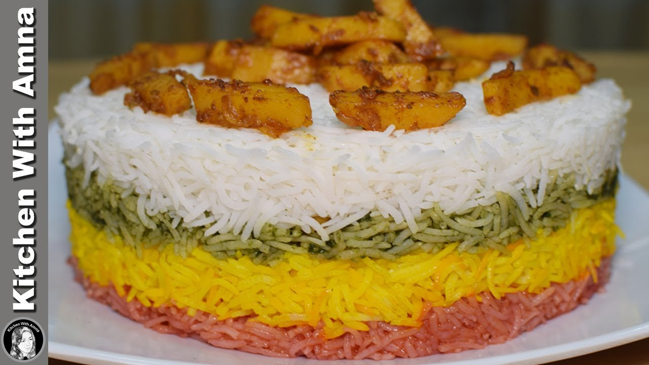 Rainbow Potato Rice Recipe - How to make Colorful Rice - Kitchen ...