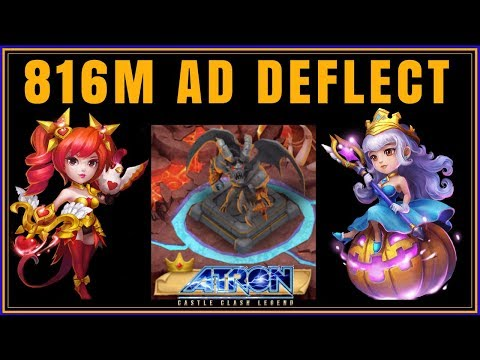 RANK 1 - 816 MILLION DAMAGE ARCHDEMON DEFLECT & INCREASES ATTACK - CASTLE CLASH