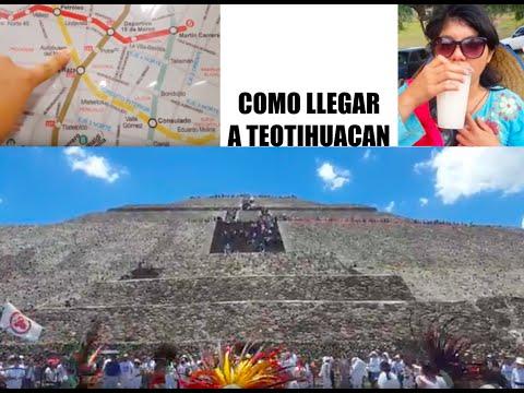 Como llegar a Teotihuacán en metro y autobús #unamexicanaenméxico