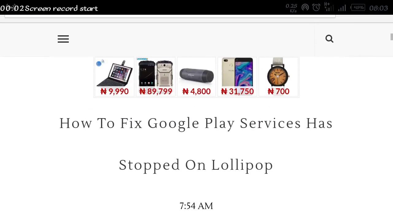 Fix Google Play Services Has Stopped On Lollipop