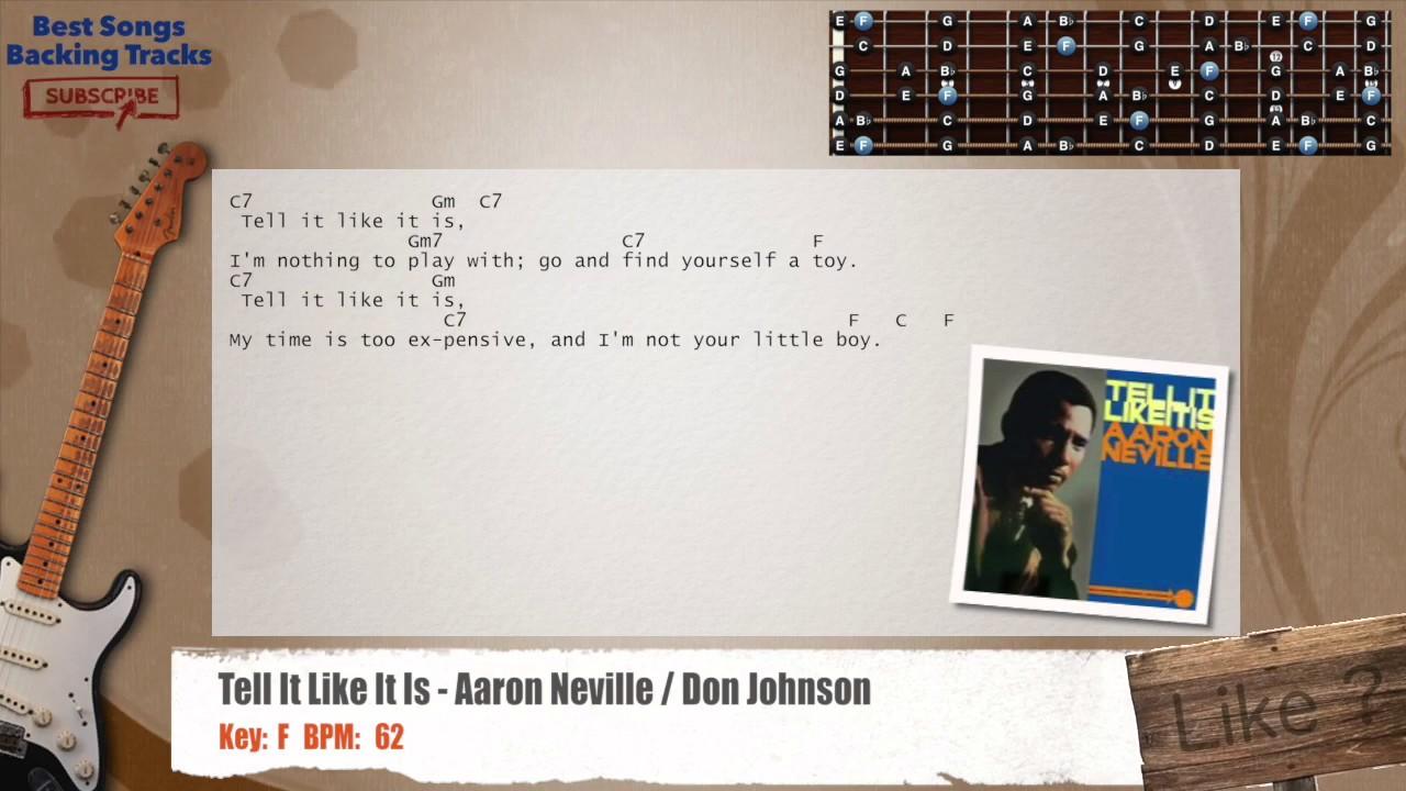 Tell It Like It Is Aaron Neville Don Johnson Guitar Backing