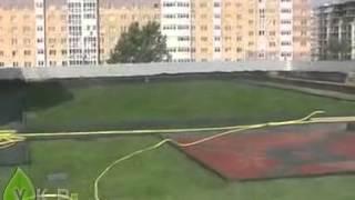 Укладка рулонного газона на крыше(Заказать посев газона, семена газонной травы, Вы можете на сайте проекта УкрСад http://ukrsad.com.ua Посмотреть инст..., 2012-12-09T18:35:54.000Z)