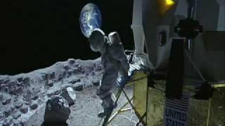 Mann aufm Mond
