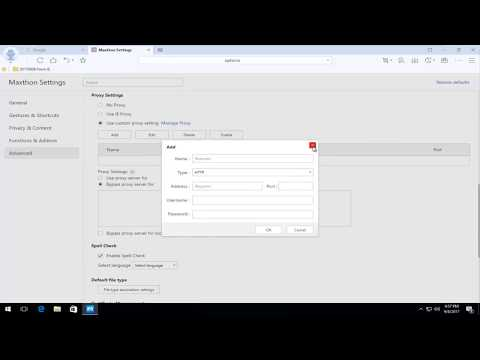 How To Change Proxy Settings In Maxthon Cloud Browser
