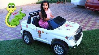 شفا ومغامراتها في السيارة !!!