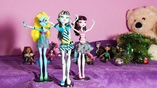 Stop Motion: Monster High New Year Dance - Монстер Хай поздравляют с новым годом в стиле стоп моушн