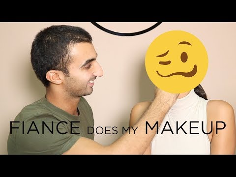FIANCÉ DOES MY MAKEUP *help* | DINA DASH