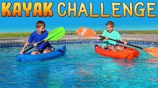 Twins Kayak Challenge - Bro vs Bro Kid Ninja Warriors