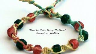DIY Multicolored Hemp Bracelet with Beads