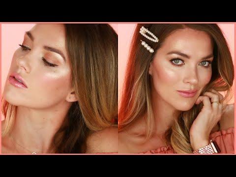 Bronze Glowy Makeup Tutorial (1 Bronzer, 1 Highlighter & Zero Eyeshadow)
