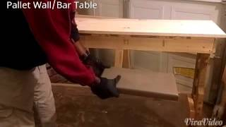 Diy Wood Bar Table & Stools
