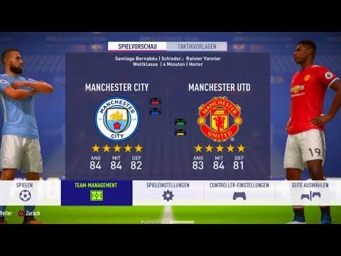 FIFA 18   Manchester United vs Manchester City   Full Match Gameplay,(PS4/XBOX ONE) HD 1080p 60FPS