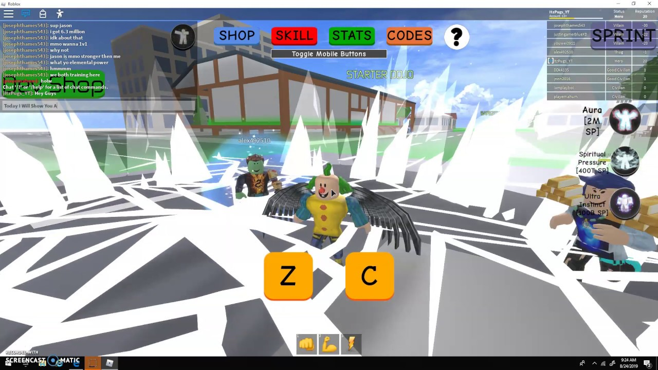 All Hidden Training Areas That I Know Of Roblox Elemental Power Simulator Youtube