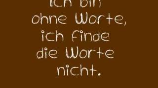 Tim Bendzko - Wenn Worte meine Sprache wären (with lyrics)