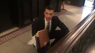 Aaron Schlossberg has no comment for PIX11 reporter