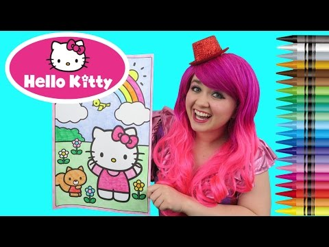 Thumbnail: Coloring Hello Kitty GIANT Coloring Book Page Crayola Crayons | COLORING WITH KiMMi THE CLOWN