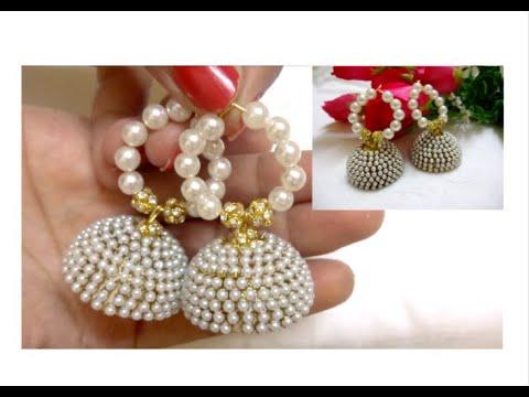DIY Pearl Earrings/How to make Designer Pearl Earring at home.