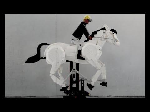 LEGO A Race Horse Galloping - Eadweard Muybridge Version
