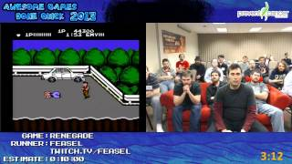 renegade speed run 07 12 nes live at awful games done quick 2013