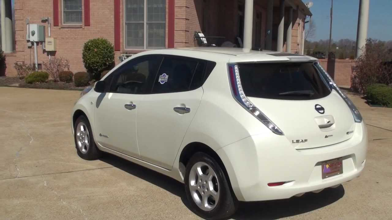 Nissan Leaf For Sale >> HD 2011 NISSAN LEAF SL ZERO EMISSION ELECTRIC CAR USED FOR SALE SEE WWW.SUNSETMILAN.COM WHITE ...