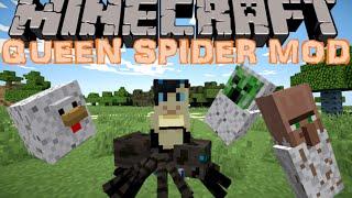 UNE ARMEE D'ARAIGNEES !! - MOD QUEEN SPIDER REBORN Minecraft [FR] [HD]