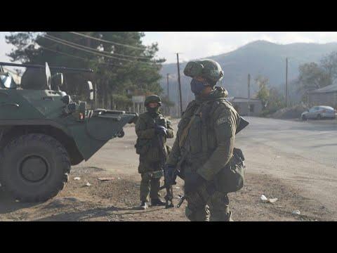 Russian troops patrol Karabakh road | AFP