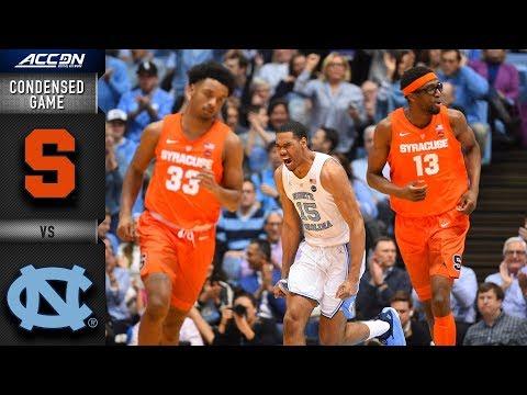 Syracuse vs. North Carolina Condensed Game | 2018-19 ACC Basketball