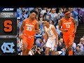 Syracuse vs. North Carolina Condensed Game | 2018-19 ACC Basketball