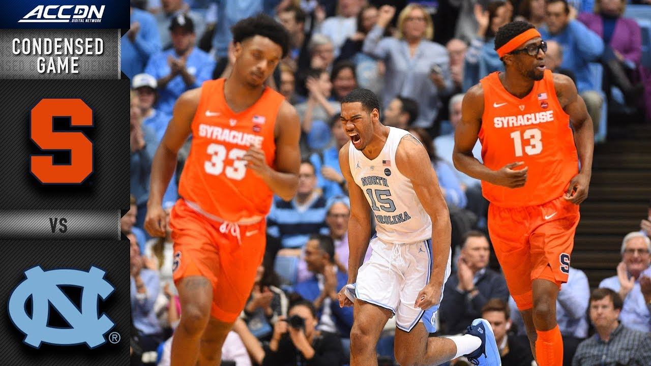 Syracuse vs  North Carolina Condensed Game   2018-19 ACC Basketball