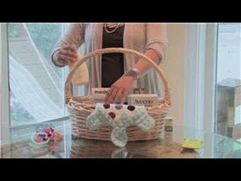 Baby showers how to make a baby shower gift basket youtube for Baby clothesline decoration baby shower