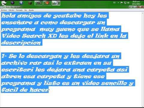 Como descargar Video Search