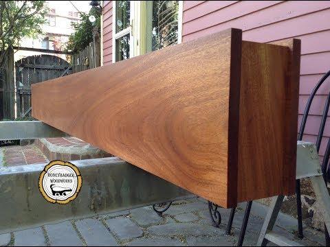 Woodworking : Mahogany Fireplace Mantel