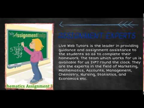 Online Assignment help | Assignment live web Tutors