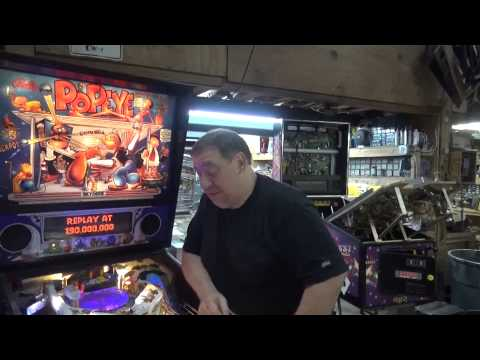 #662 Bally POPEYE Pinball Machine-based on the cartoon classic! TNT Amusements