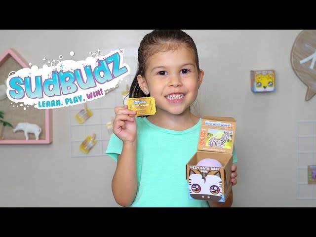 SudBudz Fizzy Bath Ball Commercial Win Prizes Golden Ticket