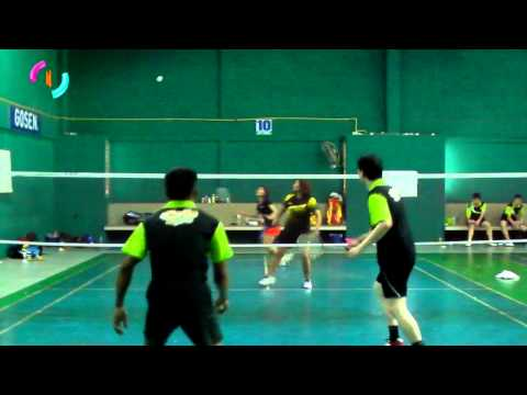 SOM / MAM vs BANK / JOH 【B-FIRST Badminton Challenge】JUN 2, 2013【P-】Men Doubles vs Women Doubles