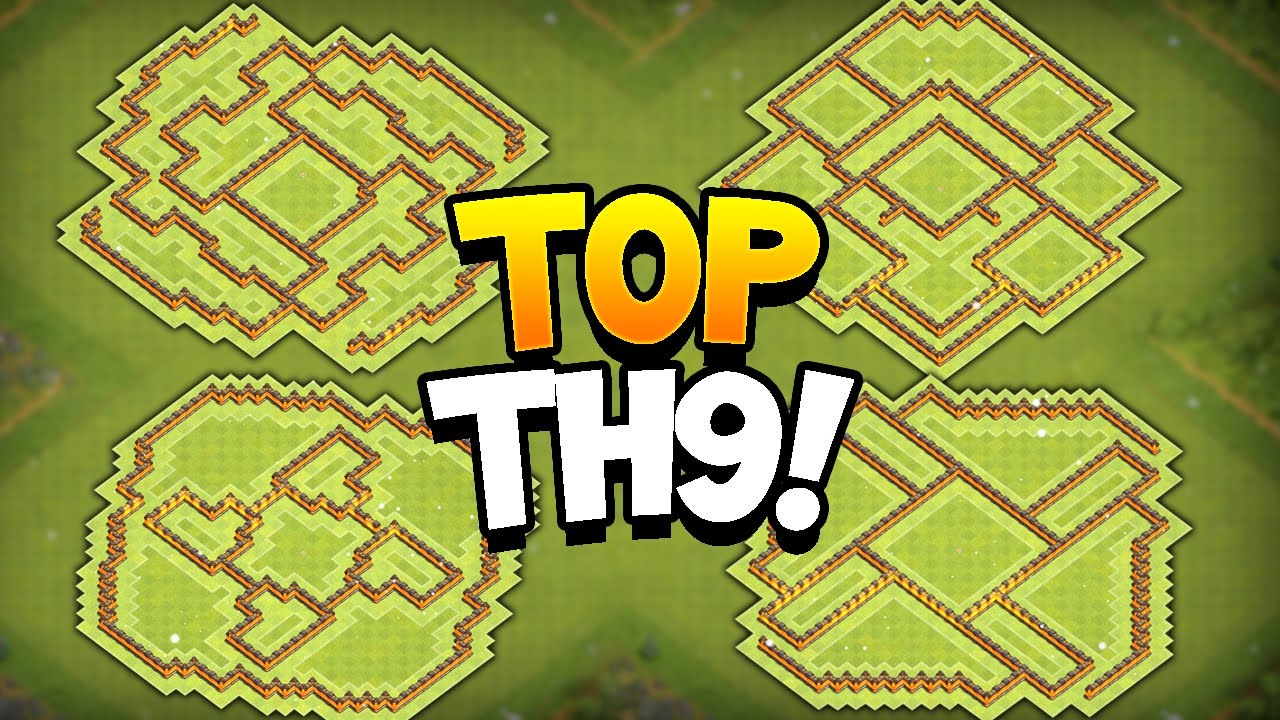 Bases 2016 quot new update quot coc best th9 farming bases youtube