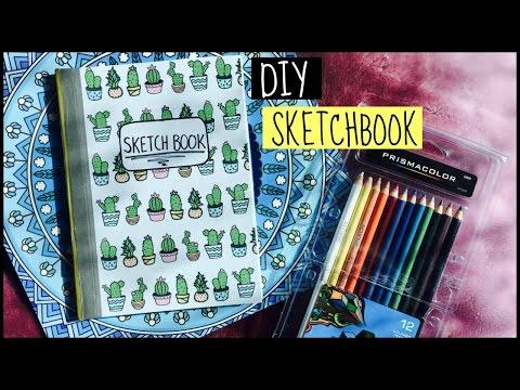 DIY Sketchbook from scratch [binding & decorating]
