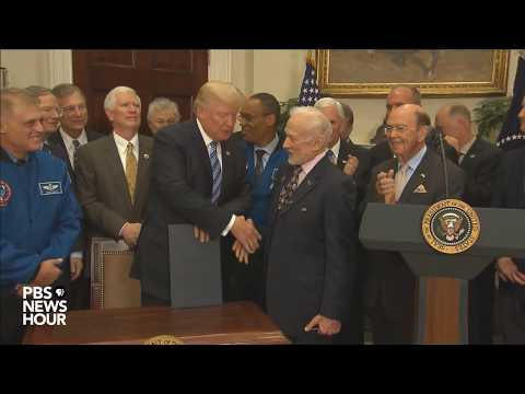 President Trump signs executive order relaunching National Space Council