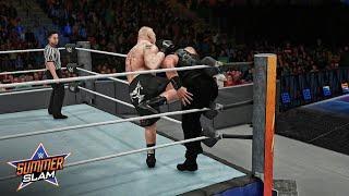 WWE Roman Reigns vs Brock Lesnar Universal Title Match - Summerslam 2018 | WWE 2K18